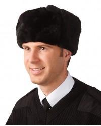 Шапка мужская меховая (овчина) с кожаным верхом