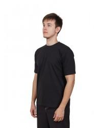 Футболка мужская с коротким рукавом (Черный) ткань пл. 160 г/м²
