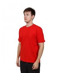 Футболка мужская с коротким рукавом (Красный) ткань пл. 160 г/м²
