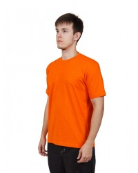 Футболка мужская с коротким рукавом (Оранжевый) ткань пл. 160 г/м²