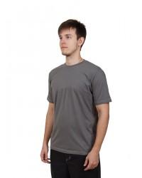 Футболка мужская с коротким рукавом (Серый) ткань пл. 160 г/м²