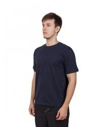 Футболка мужская с коротким рукавом (Темно-Синий) ткань пл. 160 г/м²