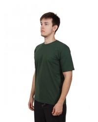 Футболка мужская с коротким рукавом (Темно-Зеленый) ткань пл. 160 г/м²