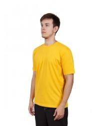 Футболка мужская с коротким рукавом (Желтый) ткань пл. 160 г/м²