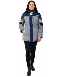 Куртка зимняя женская PROFLINE SPECIALIST (Таслан), серый/темно-синий