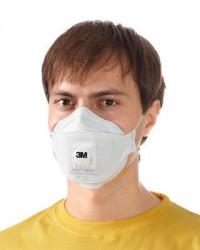 Полумаска фильтрующая (респиратор) для защиты от пыли и туманов (с клапаном выдоха) 3М™ Aura 9312+ (FFP1, до 4 ПДК)