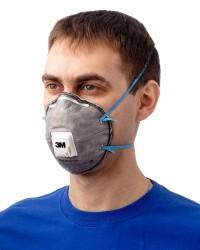 Полумаска фильтрующая (респиратор) 3М™ 9922Р для защиты от дымов металлов, сварочных аэрозолей, пыли (FFP2, до 12 ПДК)