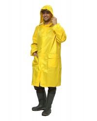 Плащ влагозащитный ЛИВЕНЬ (Нейлон/ПВХ, 170 г/м²), желтый